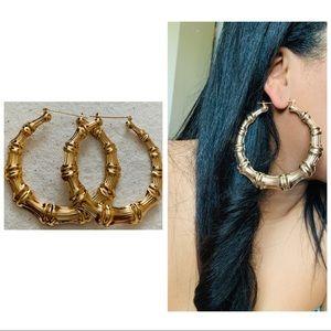 Gold Bamboo earrings